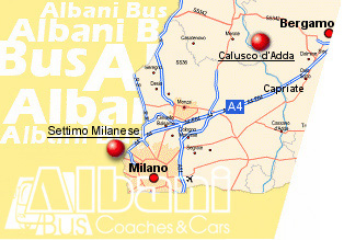 Albani Bus is coach rental and private car in Italy  Milan and Bergamo - where we are